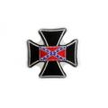 """Нашивка """"Крест и флаг Конфедерации"""" 7 х 7 см."""