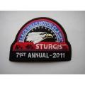 """Нашивка """"Sturgis 2011"""" 9.5х7 см."""