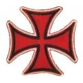 Нашивка мальтийский крест 8 х 8 см