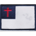 "Нашивка ""Христианский флаг"" 8,5х6 см"