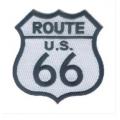 "Нашивка ""Route 66"" 7,5х6"