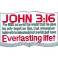 """Нашивка """"Иоанн 3:16"""" 12,5 х 8 см."""