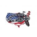 """Нашивка """"Американский мотоцикл"""" 10 х 6,5 см."""