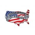 """Нашивка """"Флаг США"""" 9,5 х 6 см."""