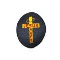 """Нашивка """"Иисус - Спаситель"""" 7,5 х 6 см."""