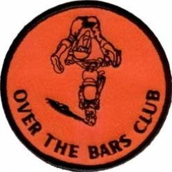 "Нашивка ""Over the bars club"" 8.5 х 8,5 см."