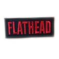"""Нашивка """"Flathead"""" 10 х 4,5 см."""