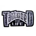 "Нашивка ""Tattooed for life"" 30 х 15 см."