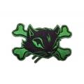 "Нашивка ""Кошка и кости"", зеленая"