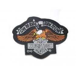"""Нашивка Harley Davidson """"Живи, чтобы кататься, катайся, чтобы жить"""""""