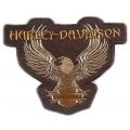 "Нашивка ""Harley Davidson"" 23 х 18 см, коричневая"