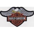 "Нашивка ""Harley Davidson"" 14,5 х 8.5 см."