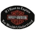"Нашивка ""Harley Davidson"" 11 х 8 см"