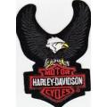 "Нашивка ""Harley Davidson"" 9 х 6.5 см"