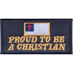 """Нашивка """"Горжусь тем, что я христианин"""" 9 х 4,5 см."""