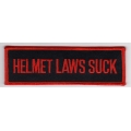 "Нашивка ""Helmet Laws Suck"" 13 х 4 см"