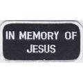 """Нашивка """"В память об Иисусе"""" 10 х 5 см"""