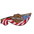 "Нашивка ""Harley Davidson"" б/у 28 х 10,5 см"
