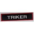 """Нашивка """"Трайкер"""" 16,5 х 4 см"""