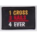 """Нашивка """"Крест - навсегда"""" 7,5 х 5 см."""