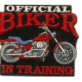 "Нашивка ""Official Biker In Training"" 7х6 см."