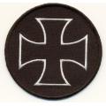"Нашивка ""Крест"", диаметр 7,5 см."