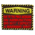 "Нашивка ""Warning..."" (""Внимание.."") 7,5х6 см."