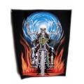 """Нашивка """"Скелет на мотоцикле"""" 36,5 х 29 см."""
