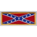 """Нашивка """"Флаг Конфедерации"""" 14 х 5 см."""