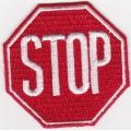 """Нашивка """"STOP"""" 6Х6 см."""
