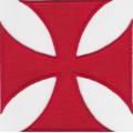 """Нашивка """"Мальтийский крест"""" 10 х 10 см"""