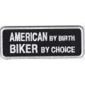 "Нашивка ""Американский байкер"" 10 х 4 см"