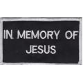 """Нашивка """"В память об Иисусе"""" 9,5 х 5,5 см"""