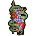 """Нашивка """"Флаг Конфедерации и змея"""""""