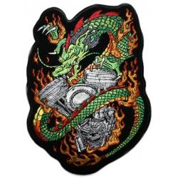 "Нашивка ""Мотор и дракон"" 23 х 16 см."