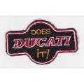 "Нашивка ""Ducati"", 7.5 х 4.5 см"