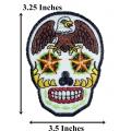 Нашивка с черепом  9 х 7,5 см