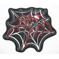"""Нашивка """"Паук в паутине"""" 25 x 22 см"""