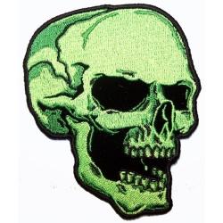 """Нашивка """"Зеленый череп"""" 10 х 8,5 см."""