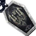 "Медальон на кожаном шнурке из коллекции ""Dark side"""