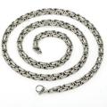 Массивная цепь на шею, византийское плетение