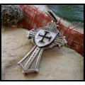 Двухсторонняя подвеска-крест рыцаря Тевтонского ордена