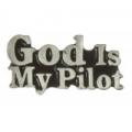 """Значок """"God Is My Pilot"""" (Господь ведет меня)"""