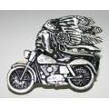 """Значок """"Индеец и мотоцикл"""""""