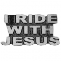 "Значок ""I ride with Jesus"""