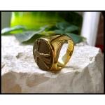 """Позолоченный перстень """"Леонардо Да Винчи"""""""