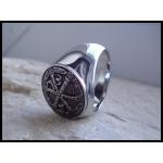 """Перстень с монограммой Иисуса Христа """"Альфа и Омега"""""""