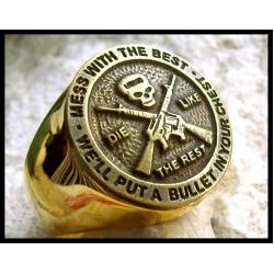 Перстень морпехов, позолоченный.