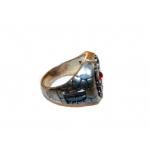 Посеребренный мексиканский перстень