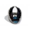 """Дамский серебряный перстень с бирюзой """"Harley Davidson"""""""